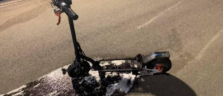 Brand eines Elektroscooters